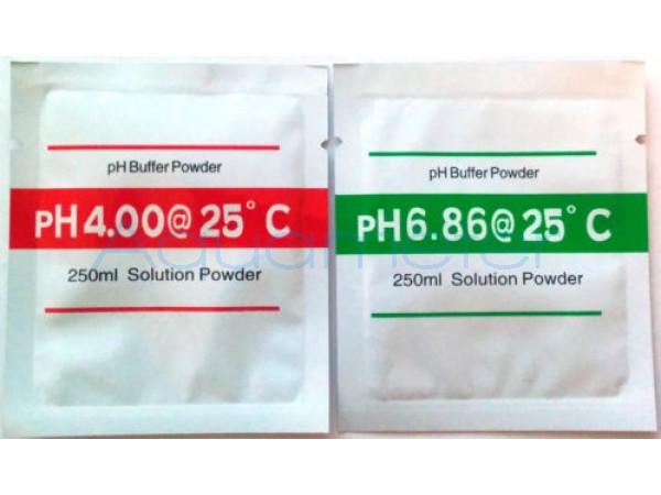 Порошки-фиксаналы pH6.86 и pH4.01 для самостоятельного приготовления калибровочных растворов РН метров